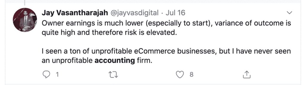 Unprofitable accounting firm